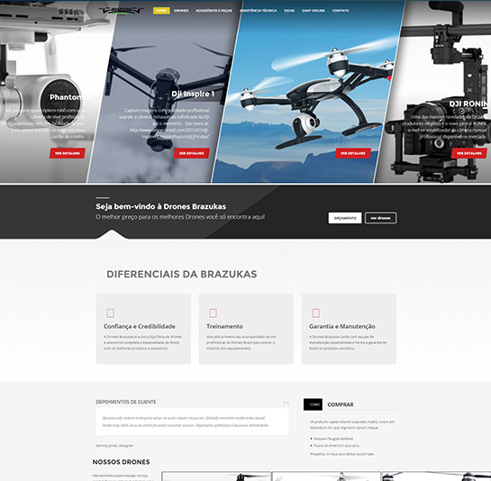 Drone Brazuka - Website